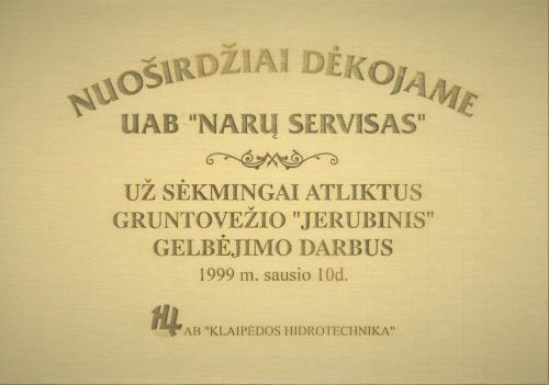 1999-01-10 NS Padėkos raštas